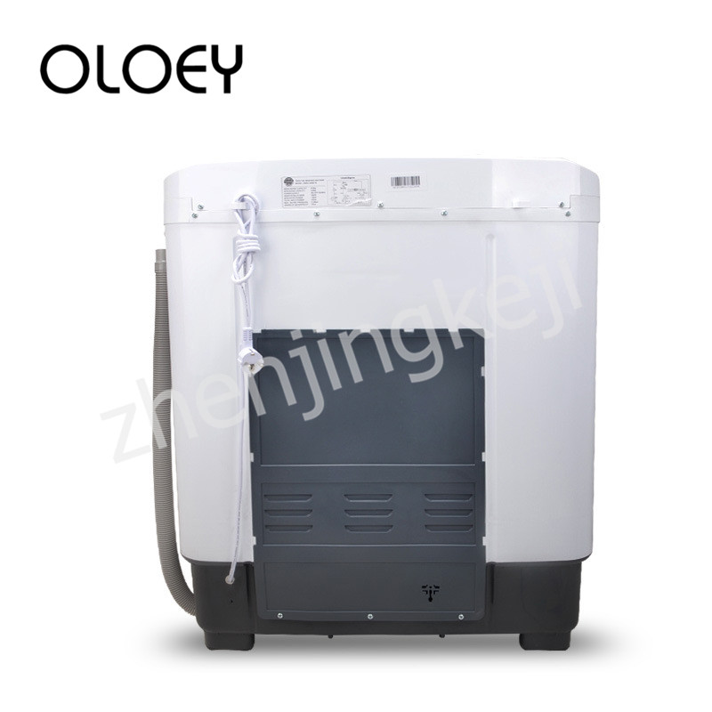 Twin Tub High Capacity Semiautomatic Wave Wheel Washing Machine 8KG Lower Outlet Top Open Laundry Dehydration Separation Plastic