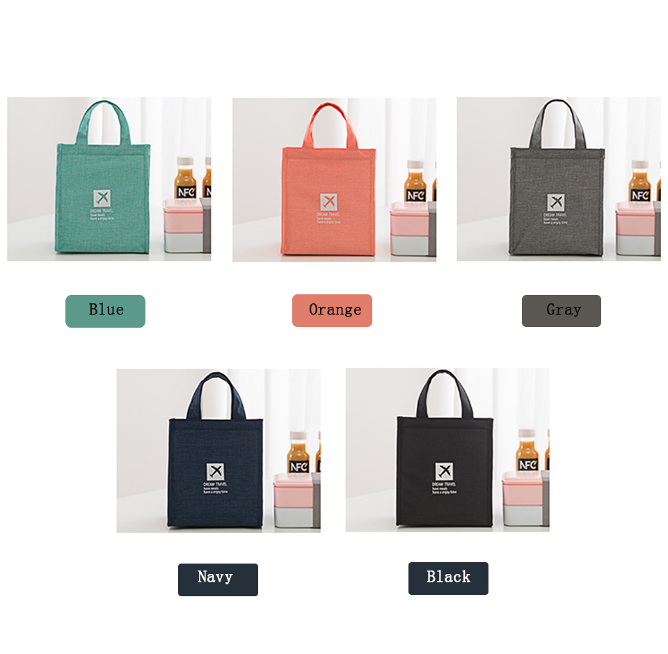 Portable Insulated Canvas lunch Bag Thermal Picnic Lunch Bags for Women kids Men Cooler Lunch Box Bag6