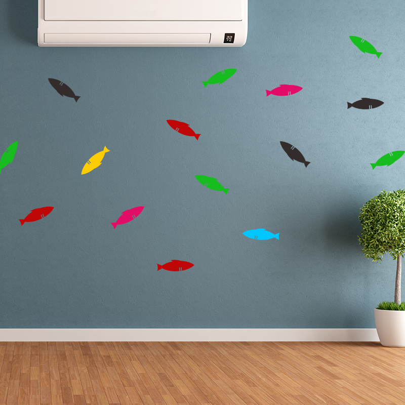 Home Decor Vinyl Small Fish Wall Stickers Can Remove The Kitchen Toilet Glass Ceramic Tile Stick Home Decoration Decal