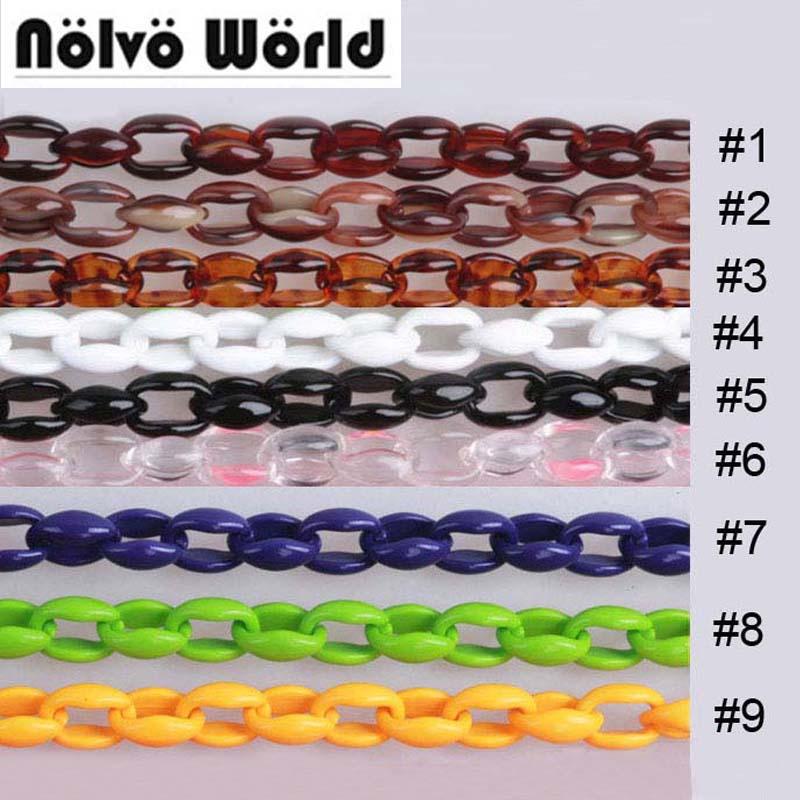 20 Colors/10 pieces/Mixed Color OK/width 1.6cm 60cm 120cm acrylic plastic bag chain for women party bags clutch bag resin chains 20 20 pieces two colors purple
