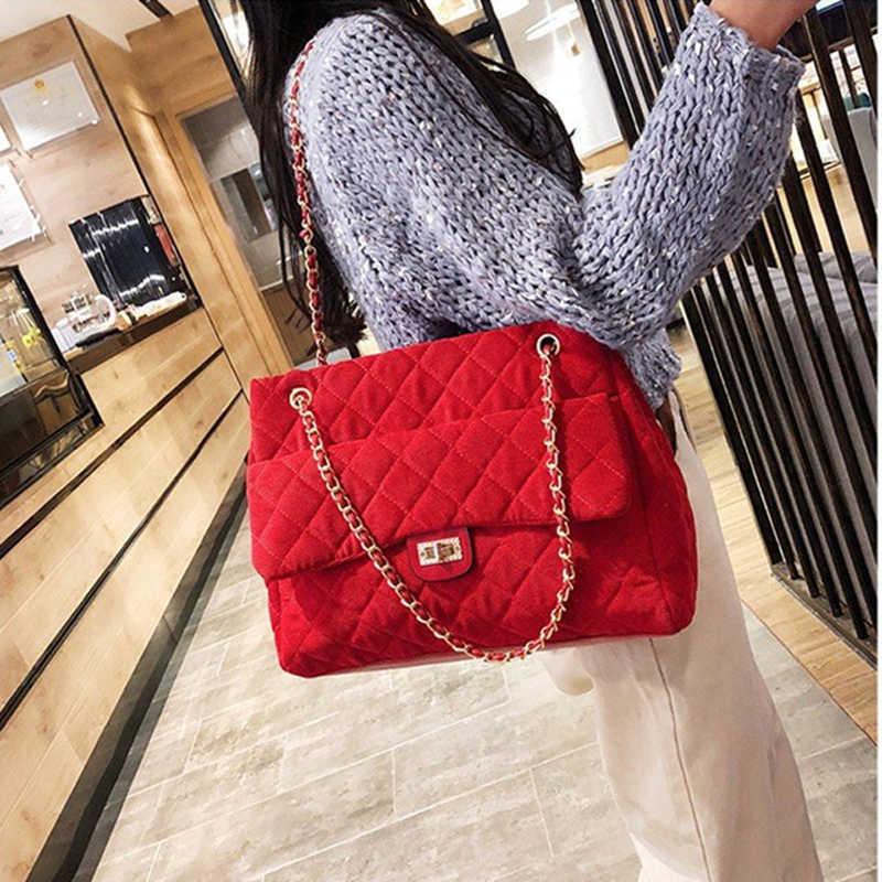 b2a0059d11b3 Luxury Handbags Women Bags Designer Brand Tote Vintage Velvet Chain Large  Shoulder Crossbody Bags For Women