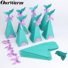 OurWarm 20pcs Under the Sea Party Candy Boxes Little Mermaid Supplies Theme DIY Gift Box For Kids Birthday Favor