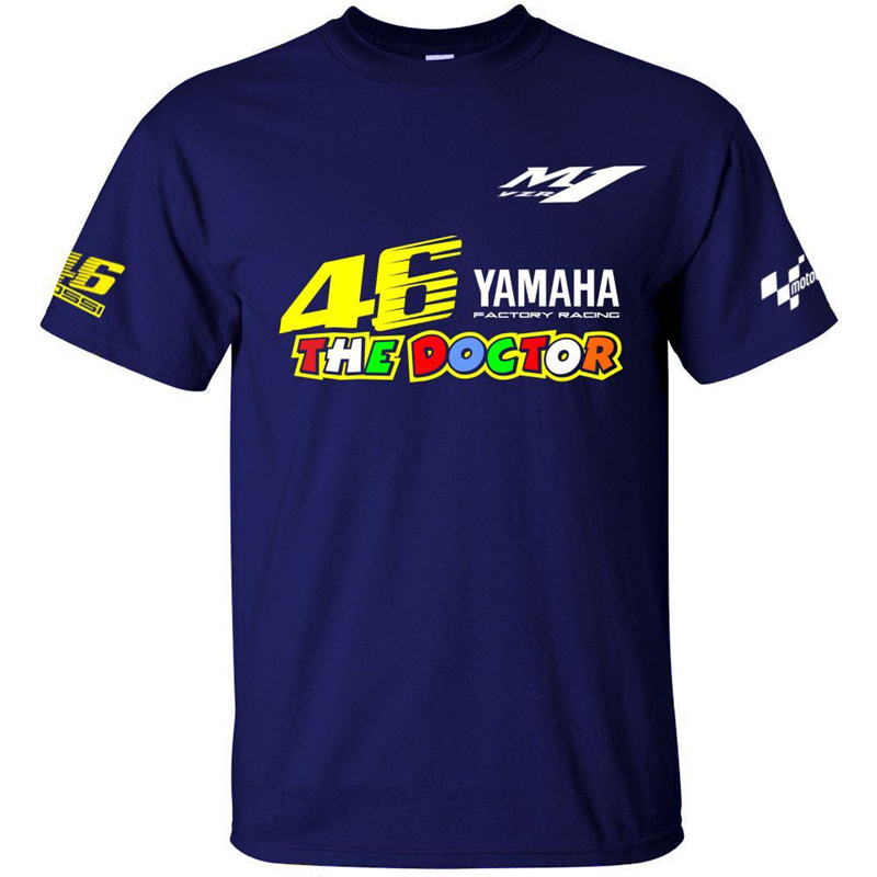 New 2018 Valentino Rossi VR46 motocycle Jerseys For Yamaha Racing Black MotoGP Men's T-Shirt VR 46 The Doctor QUICK DRY T-shirt