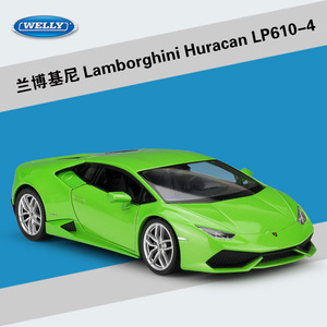 Image 1 - WELLY Diecast 1:24 محاكاة سيارات لعبة كلاسيكية نموذج لامبورجين هوراكان LP610 سيارة رياضية سبيكة معدنية سيارة للأولاد هدية مجموعة