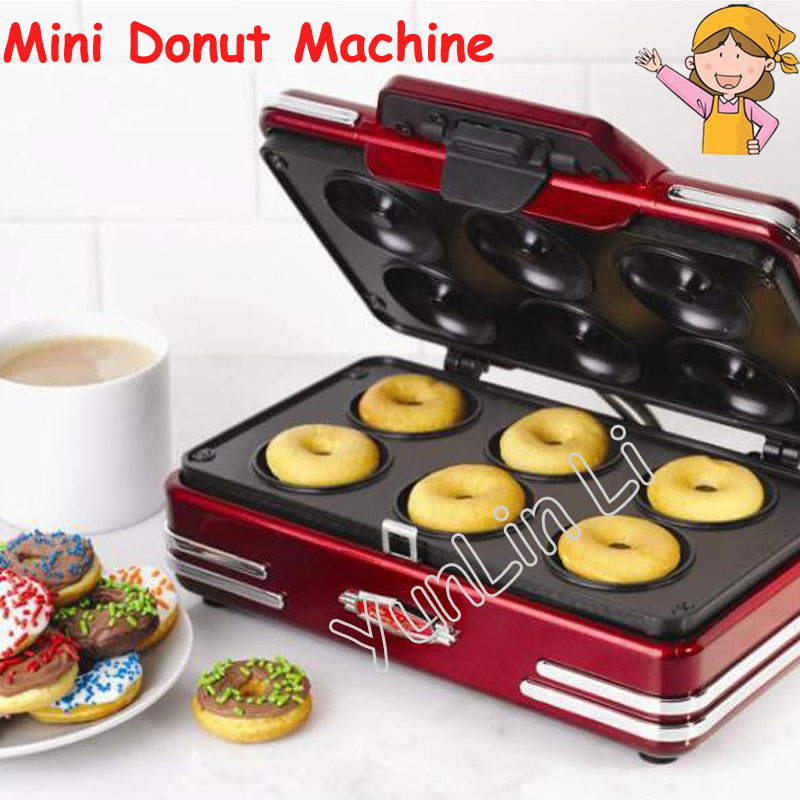 Electric Mini Donut Machine 220V 750W Household Small Breakfast Machine Baking Tools Donuts Waffle Machine RMDM800 household mini waffle machine diy breakfast machine baking tools cake machine electric waffle machine 220v 750w rmdm200