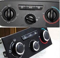 Darmowa wysyłka przełącznik klimatyzacji gałka aluminium dla Peugeot 307 2011 2012 2013 2014 2015 2016 Naklejki samochodowe Samochody i motocykle -