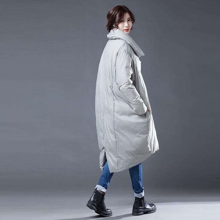 Femelle Lanmrem Occasionnel Gray Nouvelle Grande Feminina Stand Manches Complet Taille Mode Jaqueta Veste D'hiver Manteau 2018 Ye348 Lâche Collier De Zrq15wZBWx