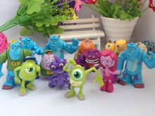 Free Shipping 12pcs/Set Monsters Inc. Monsters University Mike Sully Mini PVC Action Figure Toys Dolls Boys Toys Gifts 4-7cm