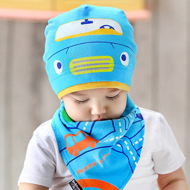 c9826ce0271a3 Baby Winter Hat Set with Scarf Neck Warmer Cat Cap for Boys Girls Kids  Children Thick