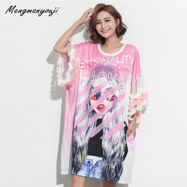 Plus Size Fits L 5xl Punk Dress Cascading Ruffle Sleeve Fashion Girl
