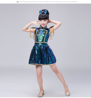 Jazz Dance Costumes for Boys and Girls Hip Hop Dance Costume Sequins Tutu