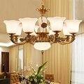 Подвесная стеклянная люстра для гостиной  освещение для чтения  кухонная лампа  современный ресторан  люстры  цинковый сплав  Lampara LED