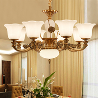 European Chandelier Luxurious Living Room Lamp Modern Restaurant Chandeliers Bedroom Zinc Alloy Lighting