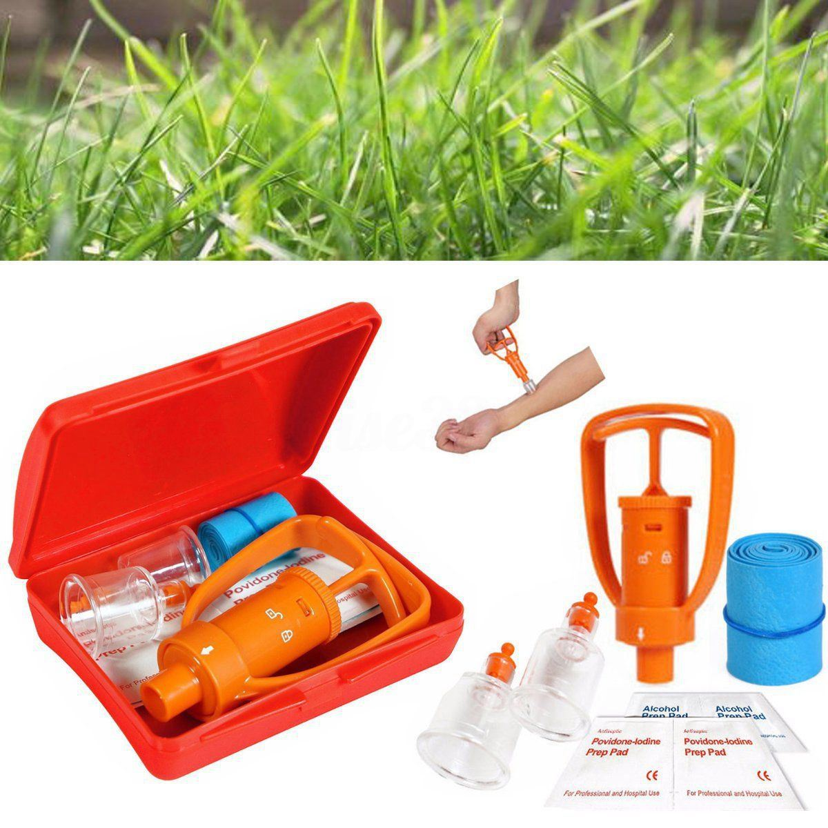 New Sale Venom Extractor Pump First Aid Safety Kit Emergency Snake Bite Outdoor Camping Survival Tool SOS