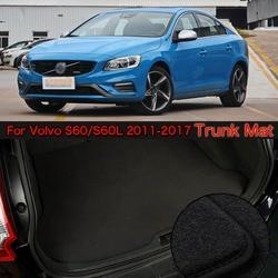Tkaniny nylonowej zmywalny samochód bagażnika Cargo Liner maty dywanowe dla Volvo S60 2011-2017