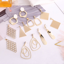 Exquisite Simple Irregular Earrings Fashion Variety Shape Pendant Female Personality Design