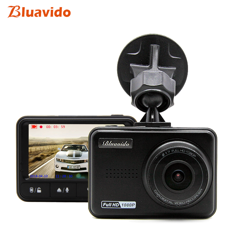 Bluavido Full HD 1080p dvr автомобиля видео регистраторы IMX323 WDR ночное видение Новатэк 170 тире камера 96658 широкий формат автомобиля видеокамера