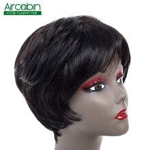 Short Straight Bob Wig Human Hair Wigs 4 Inches 1B Human Hair Short Wig For Black Women Aircabin Indian Hair Non Remy Hair Style