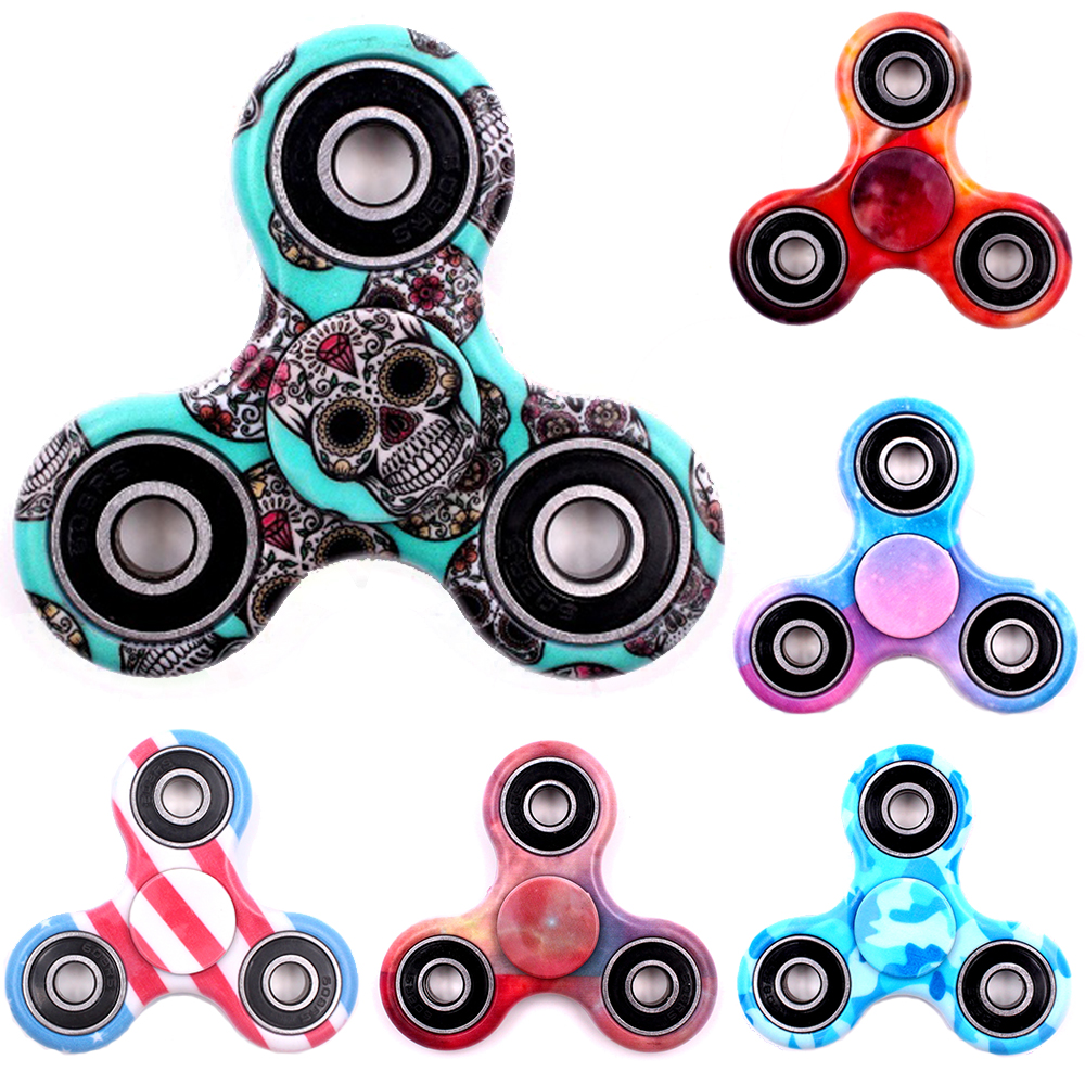 Hot Tri Spinner Fidget Toy Plastic Stress Wheel EDC Anti Stress Hand Spinner Handspinner For Autism