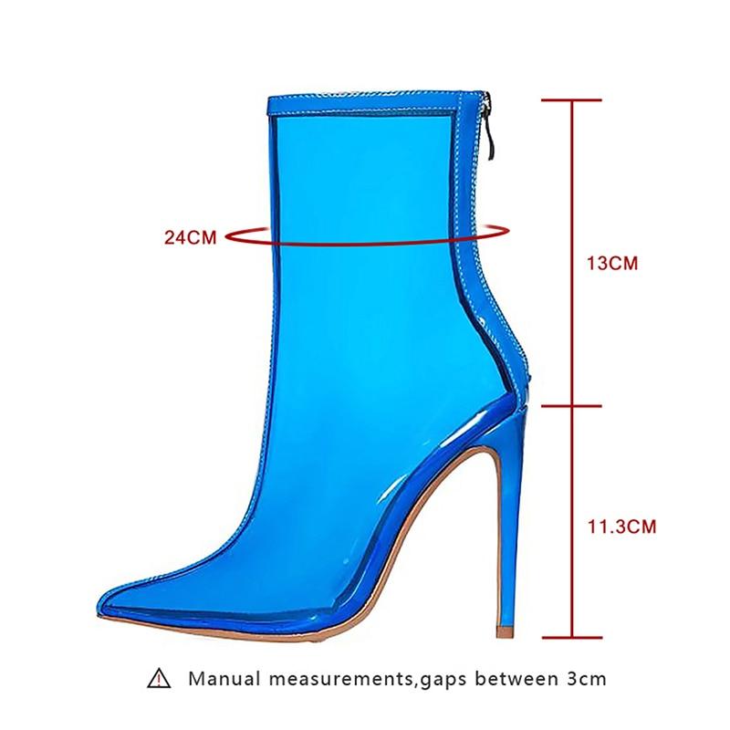 a Heels Femminile Punta Verde Ankle Boot punta High Woman Kiss Boot Zip Spring Blu 2019 Women Albicocca Wet Trasparente Shoes Party Pvc Boots A6xp0qa