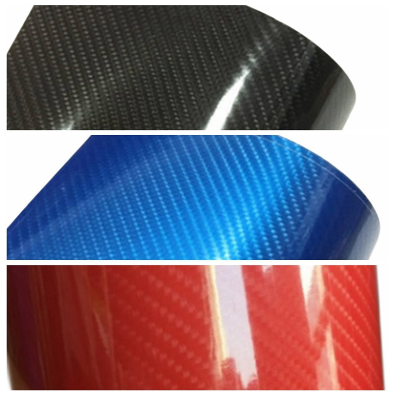 6D Gloss Carbon Fiber Vinyl Film Car Sticker Wrap Car Styling Accessories Car Film Glossy Car Stickers Waterproof car styling real carbon fiber glossy surface cambered wine holder page 4