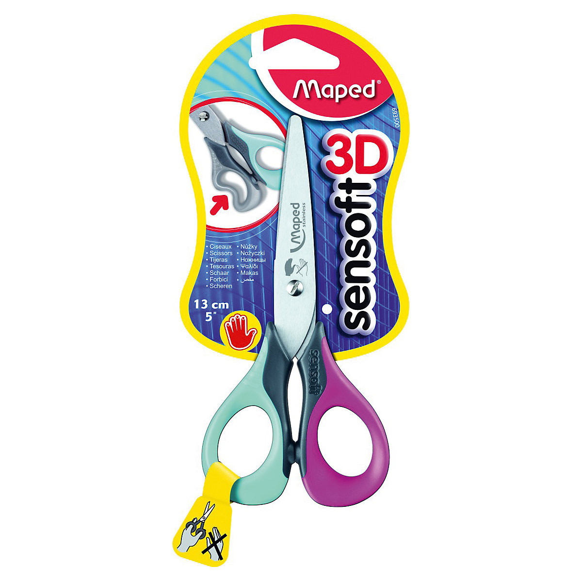 MAPED Scissors 7065318 scissors for lefties office scissor for school for children for boys and girls 30 teeth thinning scissors thinning shears japan quaity 6 thinning scissors for hair salon s styling use