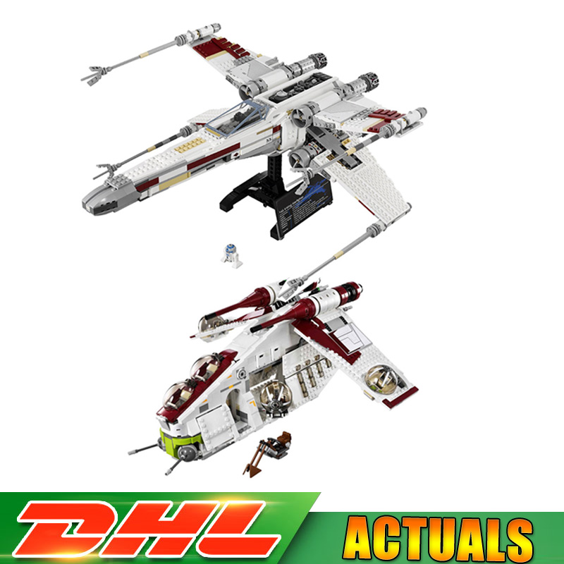 Lpein Star Wars 05039 X-Wing Starfighter 05041 The Republic Gunship Set Building Bricks Blocks Compatible LegoINGlys 10240 75021
