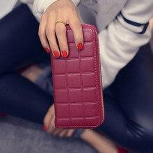 2016 vente Chaude Nouvelles Femmes De Mode Portefeuilles Doux Surface Femelle D'embrayage Sac À Glissière Surround F242