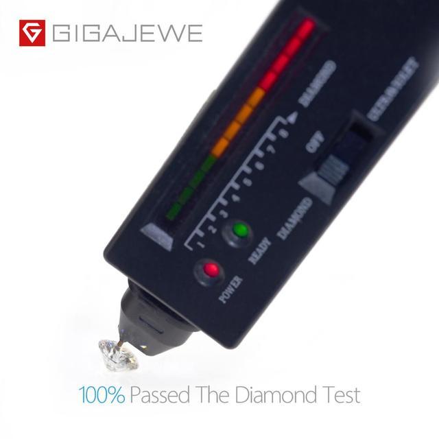 Gigajewe real d cor 1-3ct redondo moissanite qualidade superior teste de diamante solto passou gem diy para fazer jóias 6
