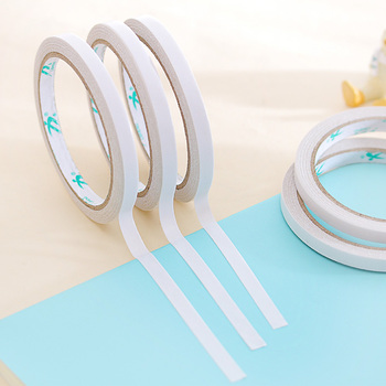 5 pcs/lot new Double Faced Adhesive Tape 8mmx12m High Viscosity Double Sided Sticky Tape White Convenient school office supplies selling 10 piece lot office adhesive tape high quality brand double sided tape office school stationery