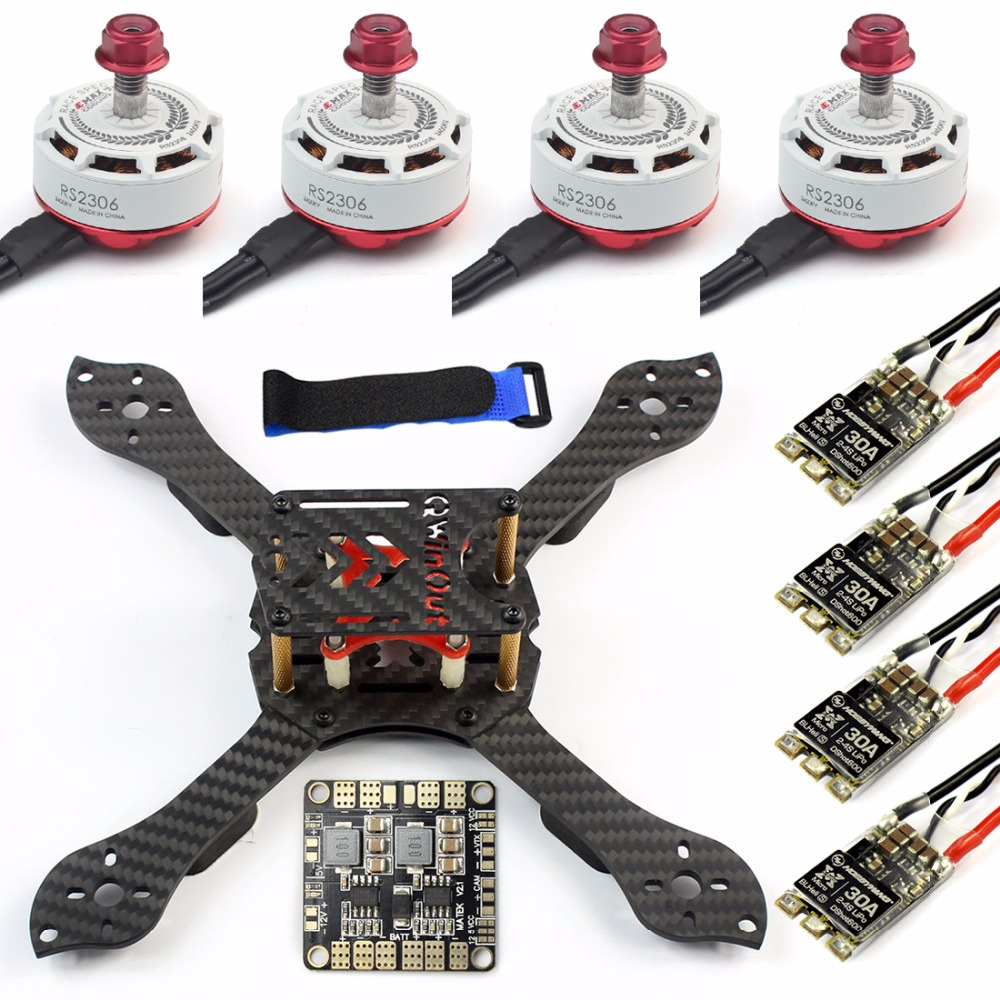 DIY Kit Threel X 3K Removable Frame RS2306 2400KV Motor Brushless 30A ESC with PDB for RC FPV Racing Dshot Drone Kit Spare Parts