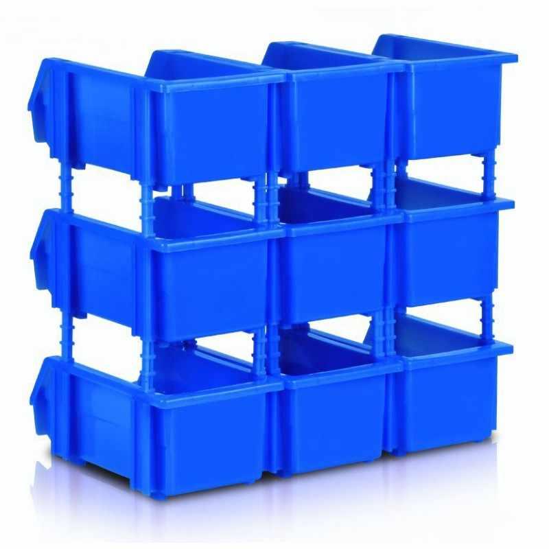180x125x80mm Ferramenta Organizador Bin Caixa De Armazenamento Rack de Prateleiras Rack De Armazenamento Da Garagem Oficina Engrossado combinação Componentes caixa