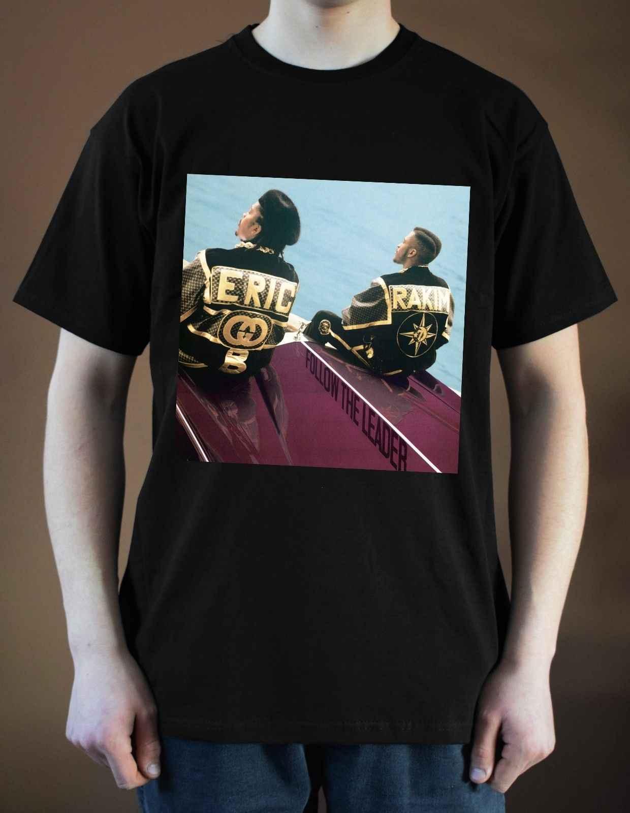 エリック · B と RAKIM フォローリーダー Tシャツ版。 1 (黒) S-5XL2019 ファッショナブルなブランド 100% 綿のプリントラウンドネック Tシャツチェ