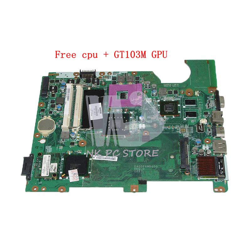 NOKOTION DA00P6MB6D0 517837-001 For HP Compaq Presario CQ61 G61 Laptop Motherboard DDR2 G103M GPU Free cpu free shipping new original for hp compaq cq61 g61 cq71 g71 cpu cooling fan with heatsink 534675 001 532605 001