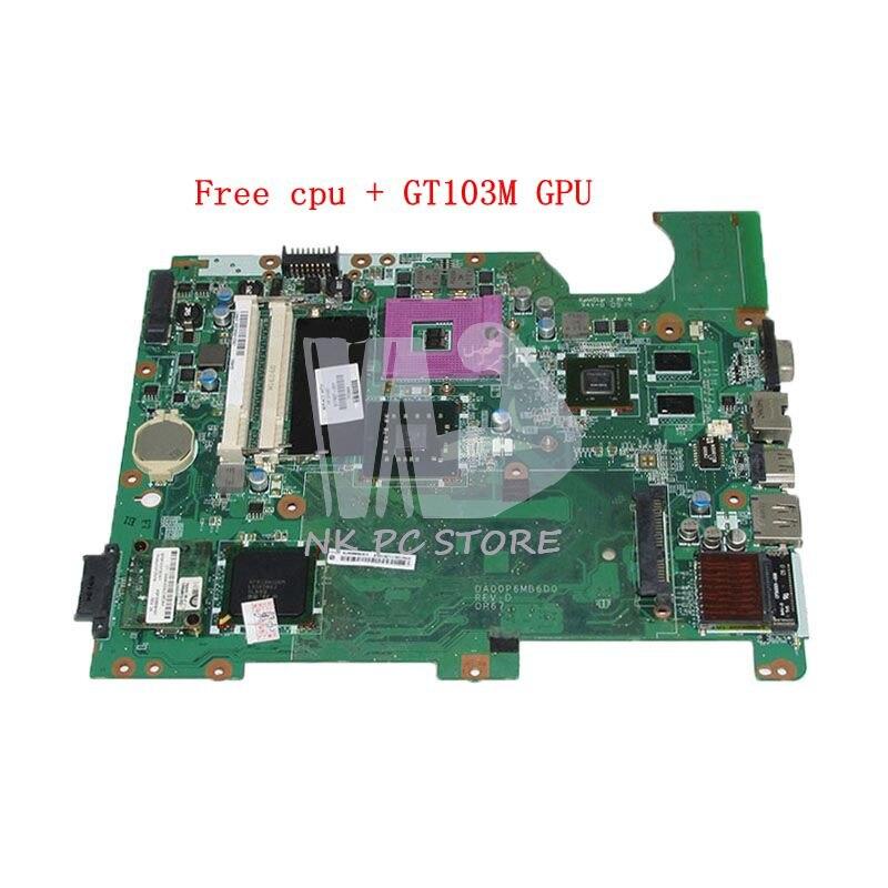 NOKOTION DA00P6MB6D0 517837-001 For HP Compaq Presario CQ61 G61 Laptop Motherboard DDR2 G103M GPU Free cpu