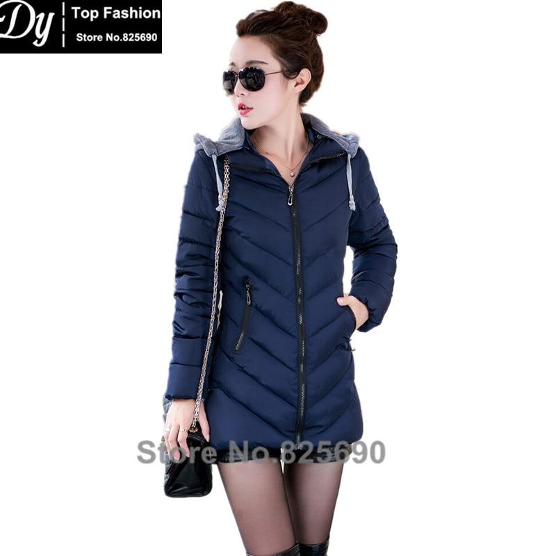 ФОТО New Warm Winter Jacket Women Cotton Jacket Fashion 2017 Girls Padded Slim Plus Size Hooded Parkas Female Coat 5 Color L-XXXL