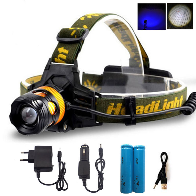 Zoomable Led Headlight lampe frontale Q5 Torch HeadLamp Head Torch Lamp Head Flashlight white yellow blue Light for Fishing imalent hr70 led headlamp 18650 led headlight head lamp head torch led flashlight lampe frontale tres puissante usb magnetically
