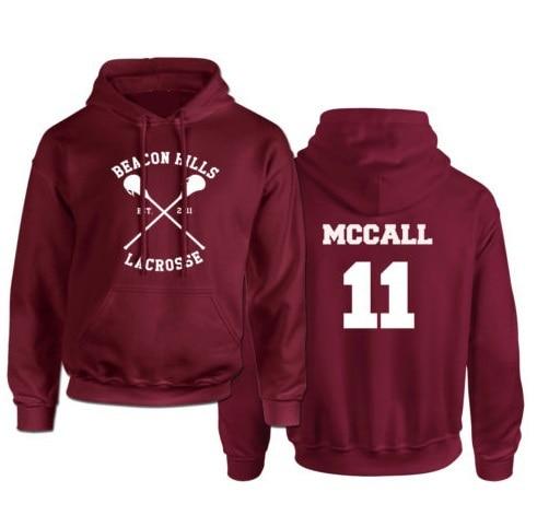 Beacon Hills Lacrosse mccall 11 lahey 14 stilinski 24 whittemore 37 Hooded Hoodie Women Sweatshirt USA factory outlet