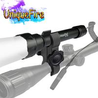 UniqueFire 1501 Focusing Flashlight 3 modes 850nm LED Bulb Spot Light Long Range Infrared Light Torch For Hunting+Scope Mount