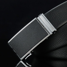 New classic business leather suede simple luxury brand mens quality belt high automatic buckle