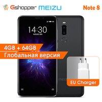 Meizu Note 8 Global Version 4GB RAM 64GB ROM Note8 Mobile Phone Snapdragon 632 Octa Core 12.0MP Dual Real Camera Smart Phone