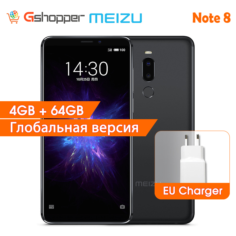 Meizu Note 8 Global Version 4GB RAM 64GB ROM Note8 Mobile Phone Snapdragon 632 Octa Core 12.0MP Dual Real Camera Smart Phone image
