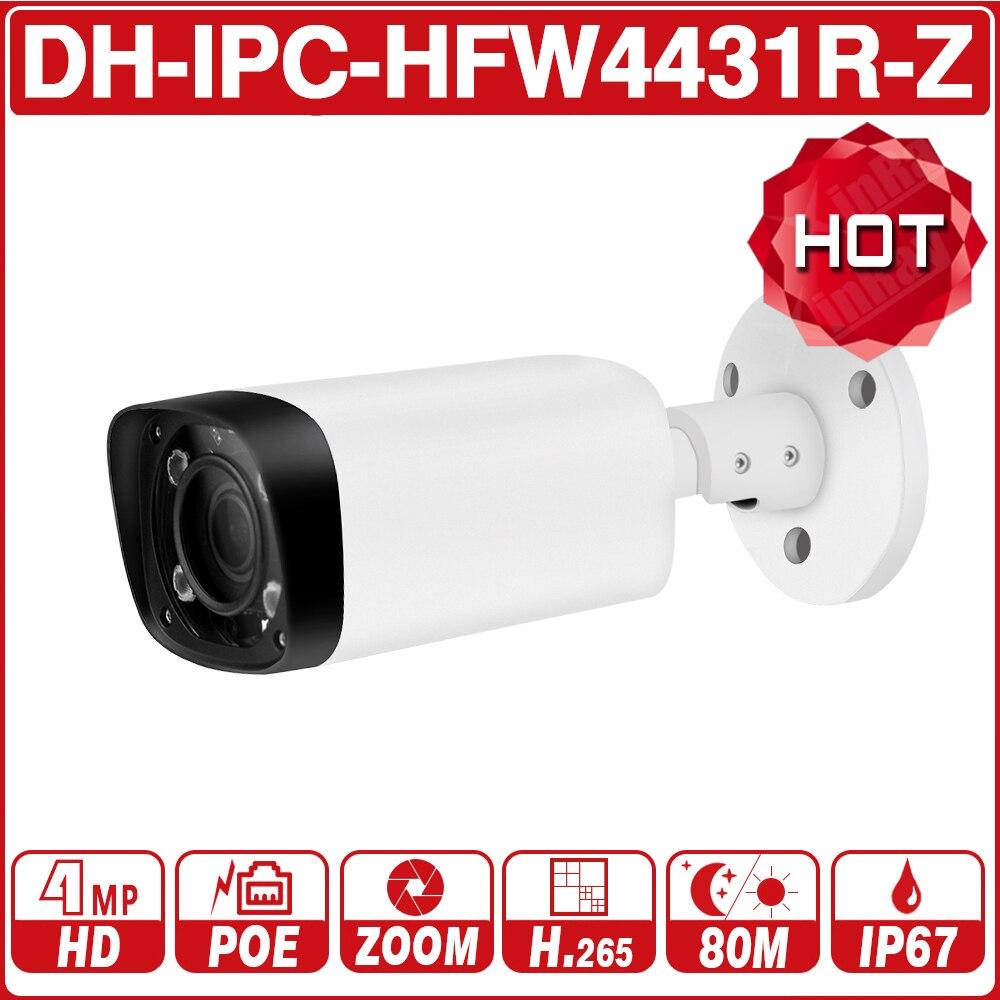 DH IPC-HFW4431R-Z 4MP Noite Câmera 80 m IR 2.7 ~ H.265 12mm VF lens Zoom Foco Automático Bala IP câmera de Segurança CCTV POE Dahua OEM