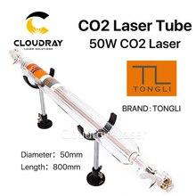 Cloudray tongli 800 мм 50 Вт Co2 Стекло лазерной трубки для CO2 лазерная гравировка Резка машины TL TLC800-50
