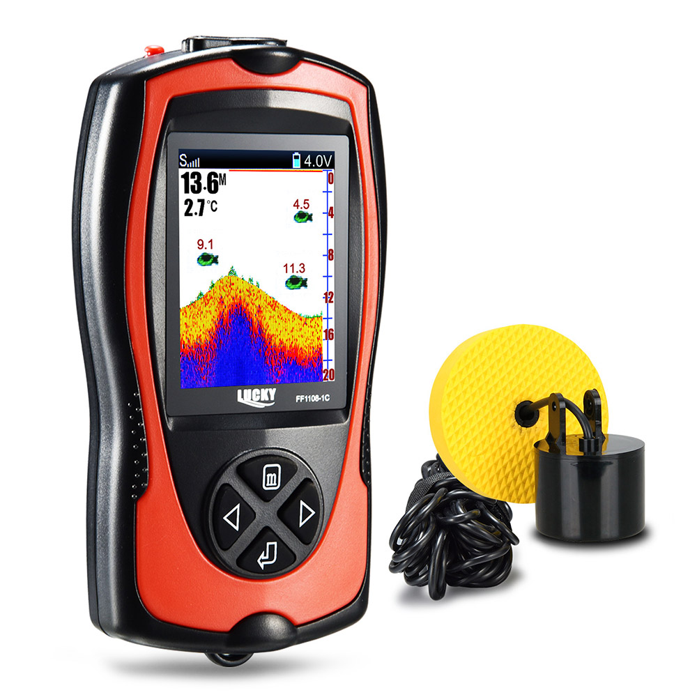 LUCKY FF1108 - 1CT Portable Fish Finder 45 Degree Sonar Detection Automatic Storage Function Fishing GearLUCKY FF1108 - 1CT Portable Fish Finder 45 Degree Sonar Detection Automatic Storage Function Fishing Gear
