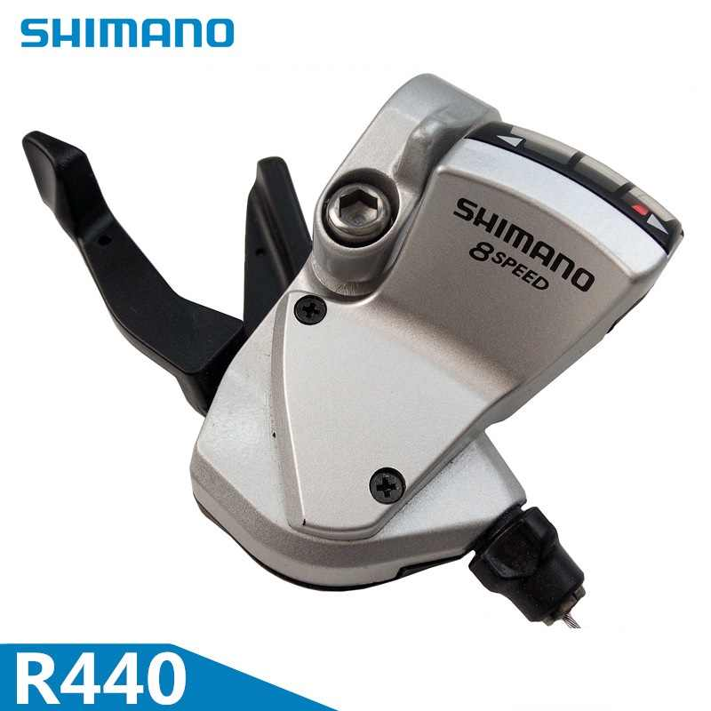 SHIMANO R440 8 Speed Derailleur Thumb Shifter Road Bicycle Folding Bike Rear 8S Freewheel Single Speed Shift Lever Japan Origin