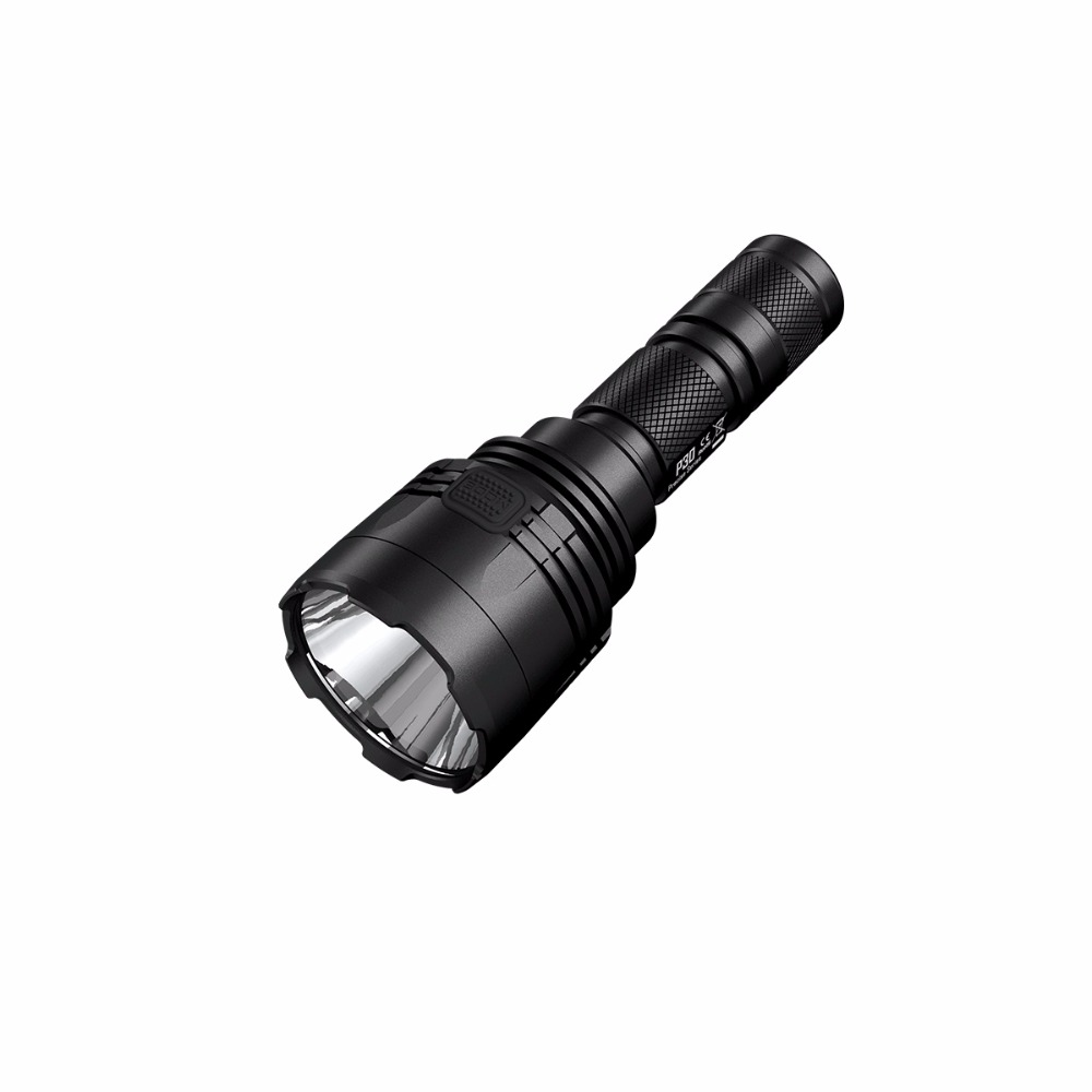 NITECORE P30 Tactical Flashlight 1000 Lm CREE XP-L HI LED Waterproof 18650 Outdoor Camping Hunting Portable Torch Free Shipping nitecore p12 tactical flashlight cree xm l2 u2 led 1000 lumens 4 mode 18650 outdoor camping pocket edc portable torch