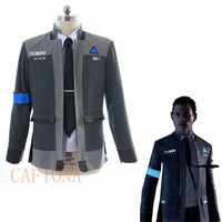 Cafiona new Detroit Become Human cosplay costume Connor cosplay costume coat shirt and tie set in stock
