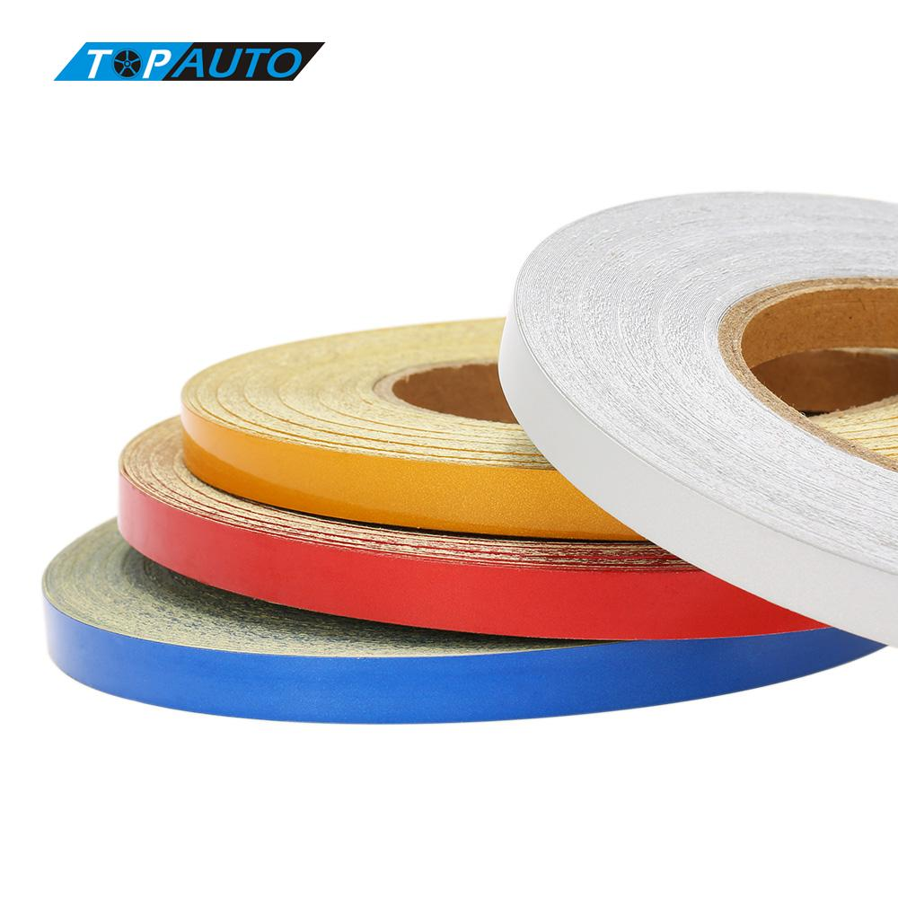 4 colors 1cm 5000cm car diy reflective tape strip for Decoration tape