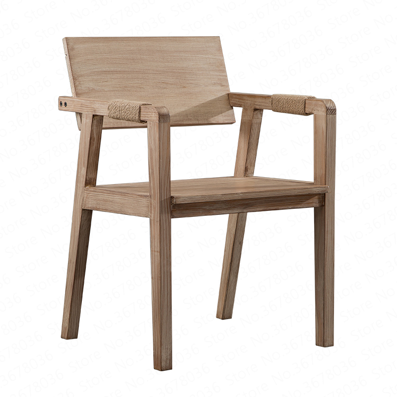 Solid wood assembled retro simple dining chair designer chair desk restaurant dining chair cafe lounge chair